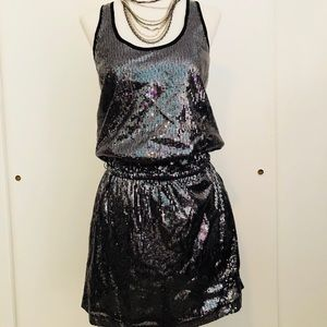 Michael Kors sequin tank mini dress with pockets!